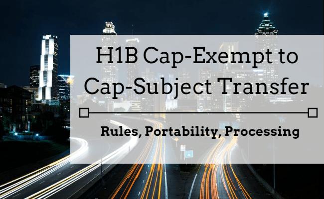 H1B cap exempt to cap subject