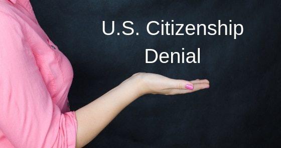 U.S. Citizenship Denial