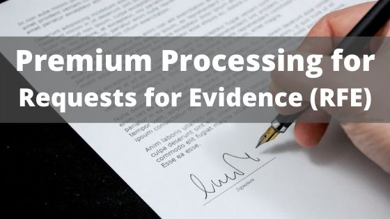 premium processing rfe